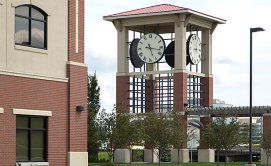 photo of clock tower on office complex owned by Chad Williams